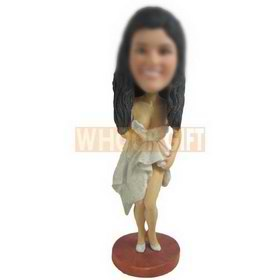 sexy woman in dress custom bobbleheads