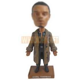 man in brown overcoat custom bobbleheads