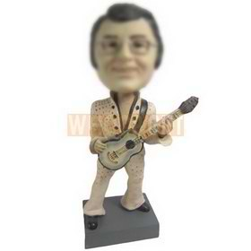 fashion man playing the guitar custom bobbleheads