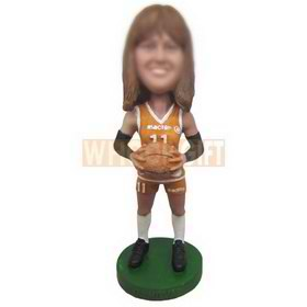 NO.11 basketball female player in sports wear custom bobbleheads