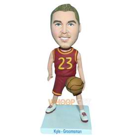 No.23 basketball player in red sports suit bobblehead