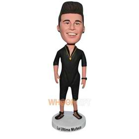 fashion man in black clothes bobblehead