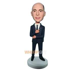 man in black suit bobblehead