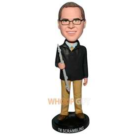 glasses man in black coat bobblehead