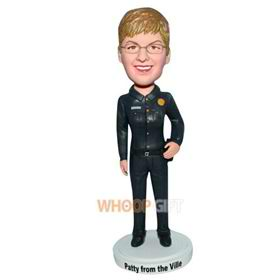 male police in uniform bobblehead