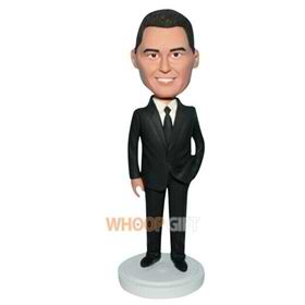 man in black suit custom bobblehead