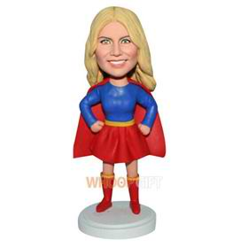 funny superwoman custom bobblehead