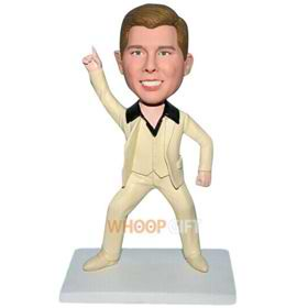 funny man in beige suit custom bobblehead