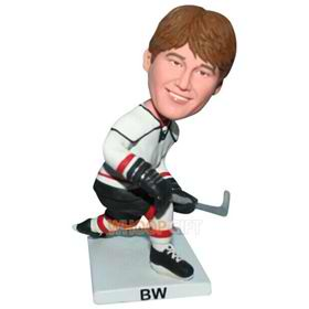 male hockyball player in sports wear custom bobblehead