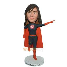 superwoman in superman uniform custom bobblehead