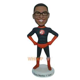 strong muscle superman custom bobblehead