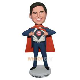 superman in blue suit custom bobblehead
