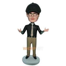 fashion man in black T-shirt custom bobblehead