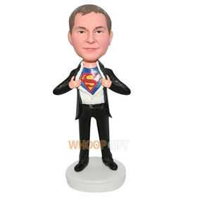 superman in black suit custom bobblehead