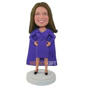 the purple woman bobbleheads