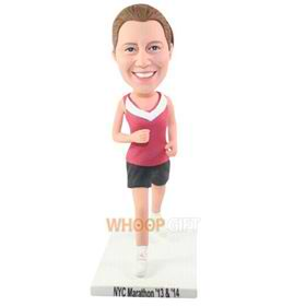 the running woman bobbleheads