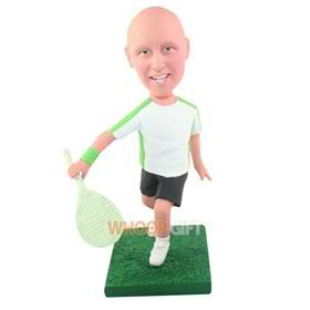 the woman badminton players bobbleheads