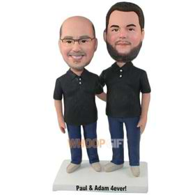 the two men bobbleheads