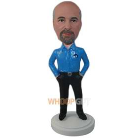 the blue man bobbleheads