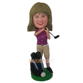 the golf woman bobbleheads